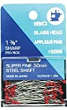 IBC Red Glass Head Pins Super Fine .50mm 1 3/8-inch Sharp 250ct