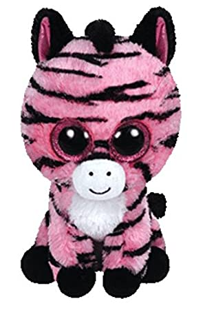 Amazoncom TY Beanie Boo Plush  Zoey the Zebra 15cm Toys  Games
