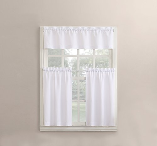 (No. 918 Martine Microfiber 3pc Kitchen Curtain Set, 54