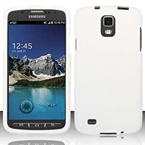 Viesrod - Importer520 Rubberized Snap-On Hard Skin Case Cover for Samsung Galaxy S4 S 4 Active i537 i9295 White