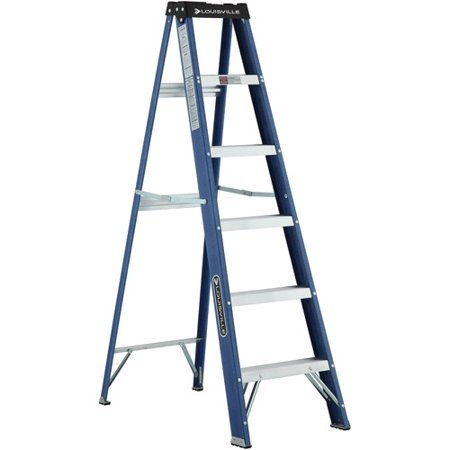 Ladder Fiber - Louisville Ladder W-3215-06 6 ft. Fiberglass Ladder, Type II, 225 Lbs Load Capacity