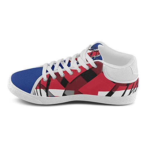 Chukka The United Shoes Women Sneakers of Kingdom Flag InterestPrint Canvas wtdxXzqt