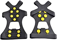WAYPOR Ice Grips, Traction Cleats, Ice Cleat, Easy Slip On, Outdoor Durable, 10 Steel Studs, Stretchable, Prevent Slipping f