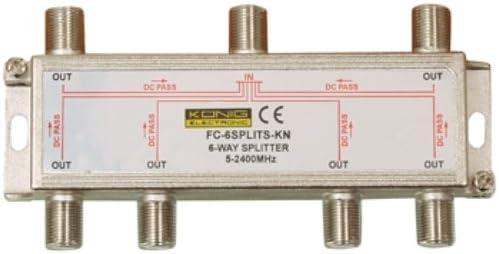 Grigio K/önig FC-6SPLT-ST-KN Splitter F per Satellite