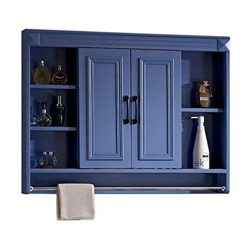 Bathroom Vanities Bathroom Cabinet Dressing Mirror Cabinet Storage Rack Solid Wood Bathroom -