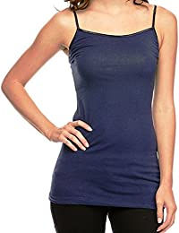 2 or 4 Pack Cotton Cantina Cotton Camis with Built in Shelf Bra