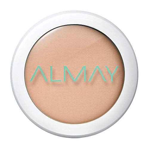 Almay Clear Complexion Pressed Powder, Light/Medium, 200, Hypoallergenic, Dermatologist-tested, Non-Comedogenic (Won't Clog Pores), 0.28 oz. Almay Clear Complexion Powder