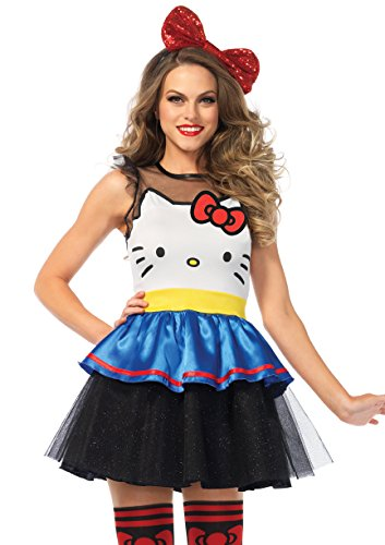 Plus Size Hello Kitty Costume (Leg Avenue Women's Darling Hello Kitty Dress)