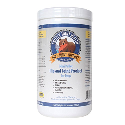 Grizzly Joint Health for Dogs Wild Salmon Meal Pellets (Regular Strength), 20 oz ()