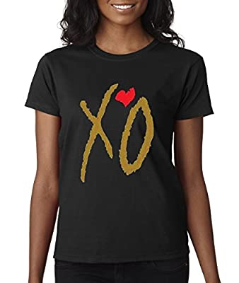 New Way 188 - Women's T-Shirt XO The Weeknd [Gold Letters]