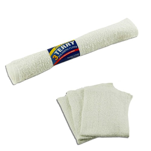 Pack of 3 Cotton All Purpose Bar Mops Dishcloths - 14