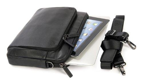 Air Borsa Vera Premium One 11 Macbook Pelle Sleeve Tucano Nero Per In BXzStxXw