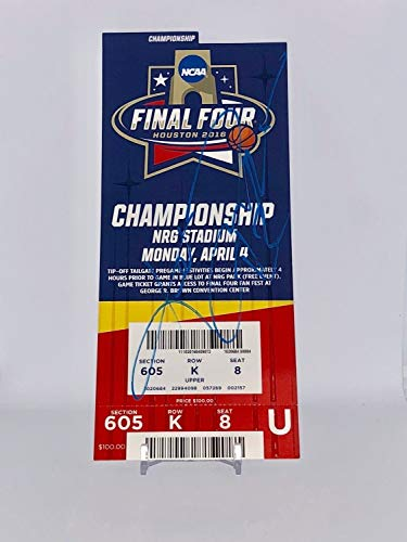 (Kris Jenkins Autographed Signed Memorabilia 2016 Final Four Championship Ticket - JSA Authentic)