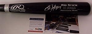 Bo Jackson Autographed Hand Signed Adirondack Pro Black Wood Baseball Bat - PSA/DNA