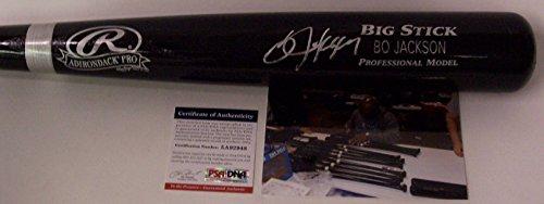 Bo Jackson Autographed Hand Signed Adirondack Pro Black Wood Baseball Bat - (Signed Black Baseball)