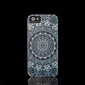 De la flor del patrón de carcasa con función atril diseño de mándala de cubierta para iPhone 4 con Tapa con iPhone 4 S/