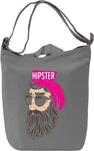 Bearded Hipster Borsa Giornaliera Canvas Canvas Day Bag| 100% Premium Cotton Canvas| DTG Printing|