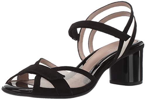 BeautiFeel Women's Sunny Slide Sandal Black Suede Nude mesh 390 Medium EU (8 -