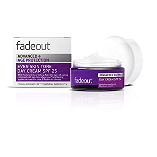 fadeout Advanced + Age Protection Even Tone Day Cream SPF 25, 1.69 ounces, 50ml