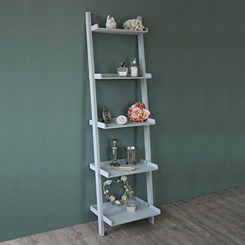 Melody Maison Tall Gris Estilo Escalera estantería de Madera Pantalla estantes: Amazon.es: Hogar