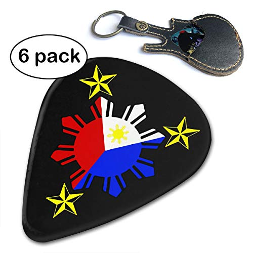 Ivanfield Filipino Philippine National Flags Picks for Bass Electric Acoustic Guitars 6 Pack