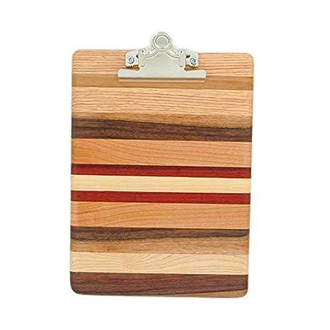 amazon com wisconsinmade hardwood memo clipboard wood clipboard