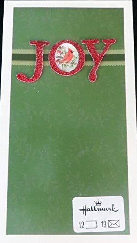Hallmark Marjolein Bastin JOY Christmas Cards 3-D Glittery