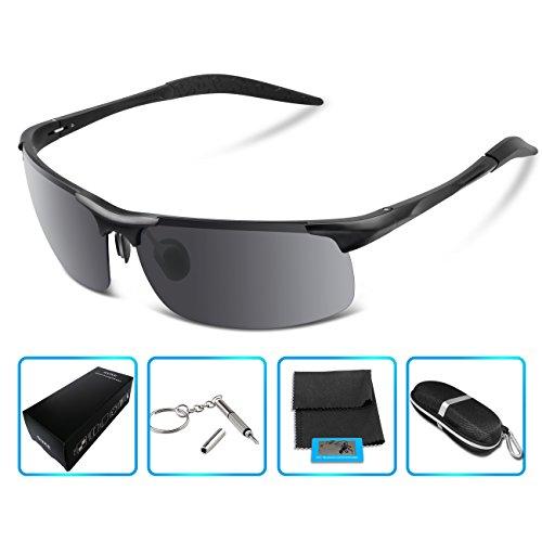 Mens Polarized Sunglasses For Men Driving Fishing Golf Climbing Running Sports Style Metal Frame Glasses