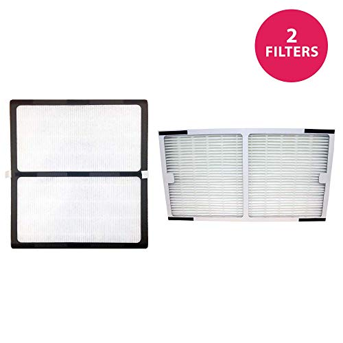 Think Crucial 2 Replacements for Idylis HEPA Style C & D Air Purifiers Filters Fits IAP-10-280, Model # IAF-H-100D & IAF-H-100C