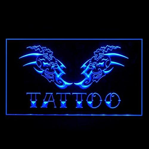 100023 Tattoo Shop Airbrush Koi Fish Display LED Light Sign