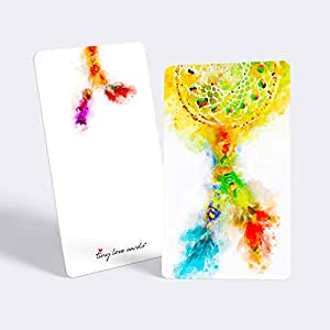 """Tiny Love Cards - Set of 85 Cute Watercolor Blank Mini Cards for Hand-Written Notes - Any Occasion - 2"""" x 3.5"""", Small Note Cards (Dream Catcher)"""