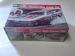 John Force's Castrol Olds Funny Car 1/24 Vintage 1989 Model Kit from Revell