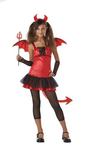 California Costumes Girls Tween Devil Grrrl Costume, X-Large (12-14)