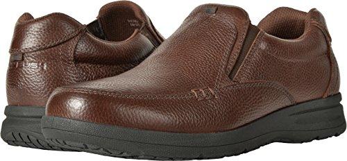 Nunn Bush  Men's Cam Moc Toe Slip-On Brown Tumbled Leather Shoe