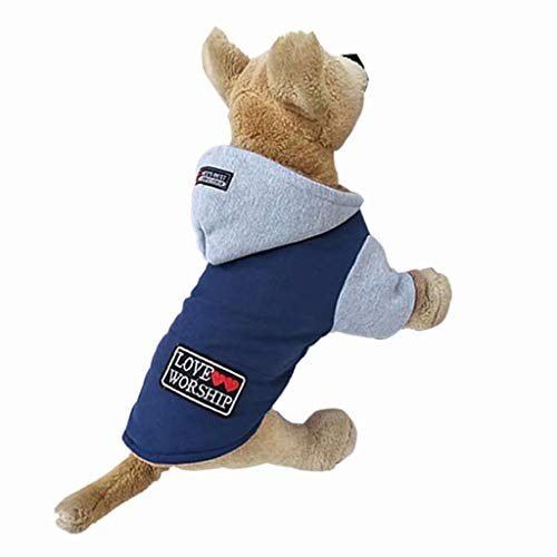 BingYELH Winter Fleece Pet Dog Jumpsuit Onesie Hoodie Coat Pajamas Doggie Thick Outfits Sweatshirts Clothes Apparels