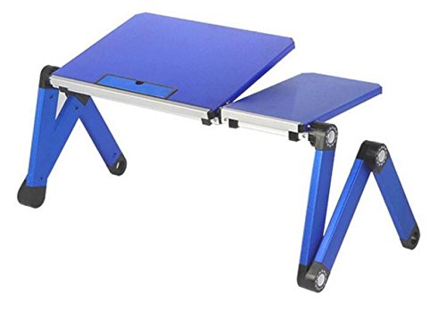 Bed Laptop Table Aluminum Desk Writing Job Hit Game Folding Camping Table,Blue-OneSize by GHGJU