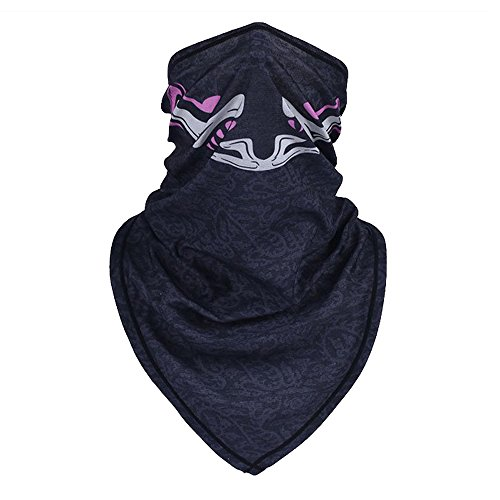 Baiyu Summer Half Face Mask Head Neck Scarf Headwear Printing Pattern Elastic Breathable Dustproof Sunproof For Outside Sports Cycling Hunting Climbing Fishing--Style 7