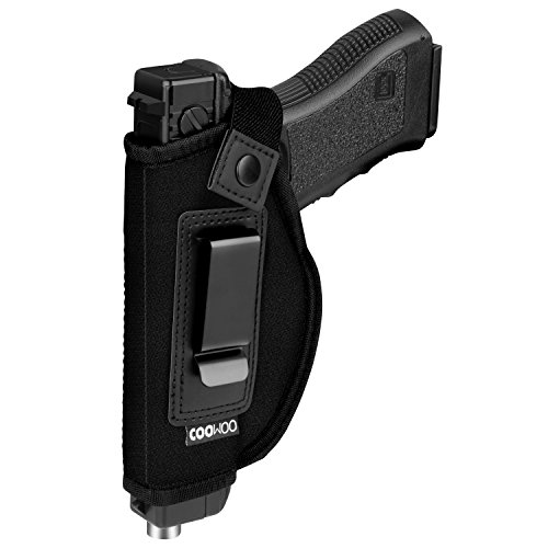(IWB Gun Holster For Concealed Carry | Inside The Waistband Holster | Gun Concealed Carry IWB Holster | Fits S&W M&P Shield/GLOCK 26 27 29 30 33 42 43/Springfield XD XDS/Ruger LC9 (Left-Handed))