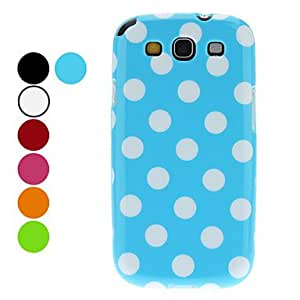 ZCL Wave Point Pattern TPU Case and Screen Protector for Samsung Galaxy S3 I9300 (Assorted Colors) , Blue