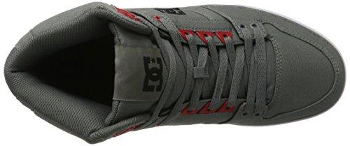 DC Spartan High Wc, Zapatillas Altas para Hombre Gris (Grey/black/red)