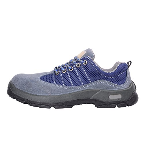 Optimal Shoes Shoes Safety Toe Comp Men's Work Steel Shoes Suede Gray r48qrFwx