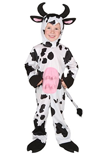 Cute Country Girl Costume (Dairy Cow Costume for Baby Boys Girls, Infant Cute Halloween Animal Cosplay Outfit Masquerade Accessory (2T))