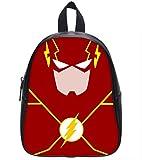 Cheap High-Grade PU Leather Backpack School Bag Travel Bag The Flash Comic Pattern