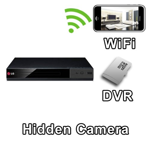 PalmVID WiFi DVD Player Hidden Camera Spy Camera with Live Video Viewing