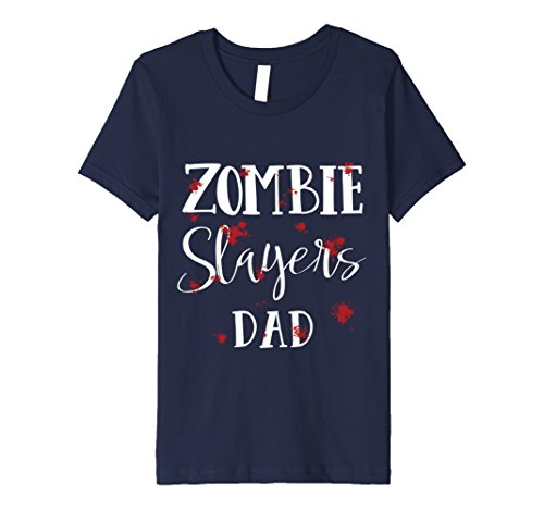 Kids Halloween Costume Zombie Hunters Bloody T-Shirt 10 Navy - Kids Zombie Hunter Costumes