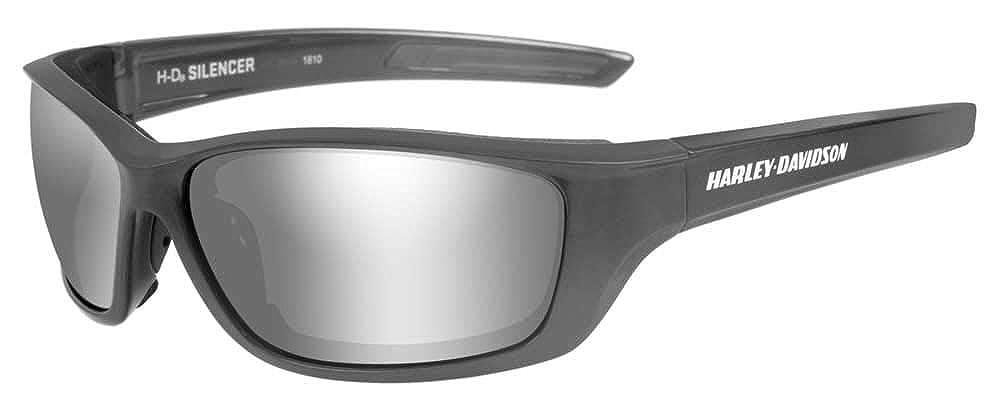 Harley-Davidson Mens Silencer Sunglasses Silver Flash Lenses//Gray Frame HASIL02