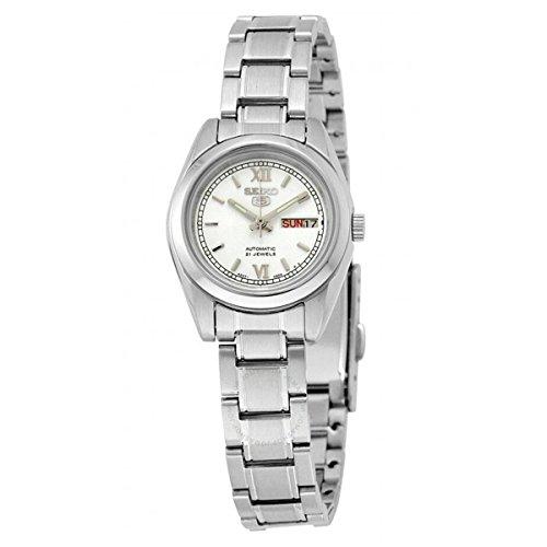 - Seiko 5 #SYMK23K1 Women's Silver Dial Self Winding Automatic Watch