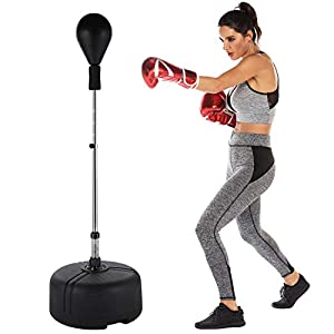 newtend Reflex Speed Punching Bag with Stand Boxing Punching Bag – Height Adjustable for Teenagers & Adults & Kids