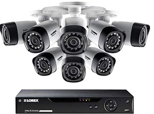 Lorex 8 Channel HD Analog DVR with 2TB HDD Security System, with 8 1080p Cameras130' Night - System Analog