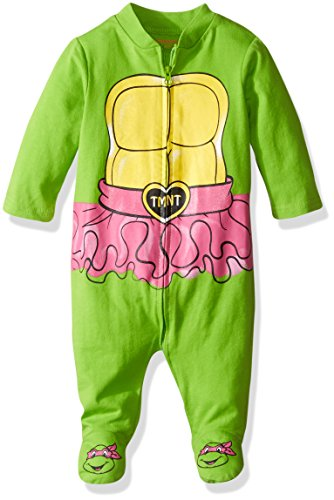Nickelodeon Baby Girls' Teenage Mutant Ninja Turtle Sleep N Play Coverall, Green, 0-3 Months (Tmnt Outfit)